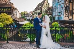Les mariés sur un pont