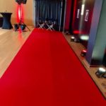 Moquette ROUGE / BLANC pour événement VIP largeur 2m ou 1m