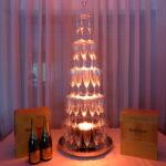 PACK fontaine à champagne + 70 flûtes + 12 btl crémants + projecteur